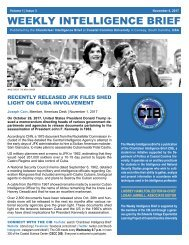 CIB Weekly Intelligence Brief | Vol. 01 | Iss. 03