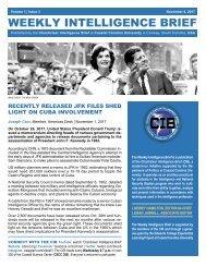 CIB Weekly Intelligence Brief | Vol. 01 | Iss. 03