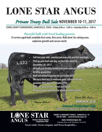 Lone Star Angus Fall Bull Sale Catalog