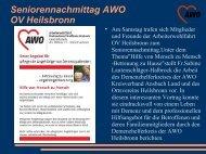 Seniorennachmittag AWO OV Heilsbronn - bei der AWO in Stadt und ...
