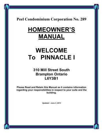 Homeowner's Manual test