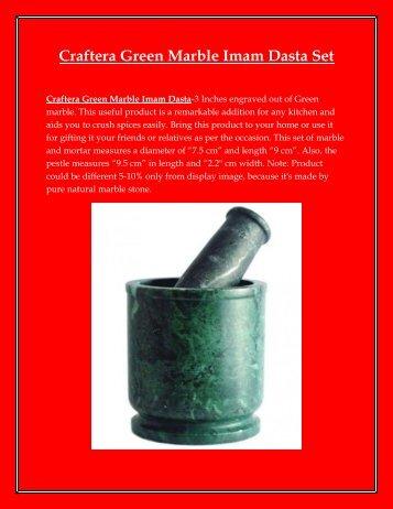 Craftera Green Marble Imam Dasta Set