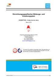 Einrichtungsspezifischer Bildungs- und Erziehungsplan - AWO-HS