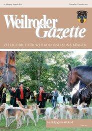 Weilroder Gazette November/Dezember 2017