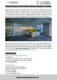 Resaiki Interiors- Best Office Interior Designers In Delhi
