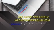 $1 web hosting- Start a website now