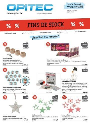 OPITEC Fins de stock 2017 Belgique-Français (T011)