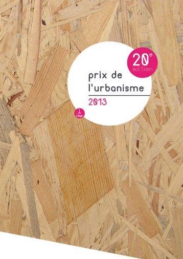 Brochure du Prix de l'Urbanisme 2013
