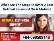 What Are The Steps To Reset A Lost Hotmail Password On A Mobile?