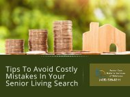 Tips to Avoid Costly Mistakes in Your Senior Living Search