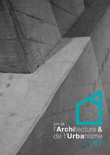 Brochure du Prix de l'Urbanisme 2017