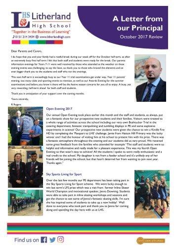 Principals Letter Oct 2017