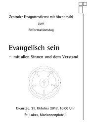 Zentraler Festgottesdienst zum Reformationsfest 2017 - Programm