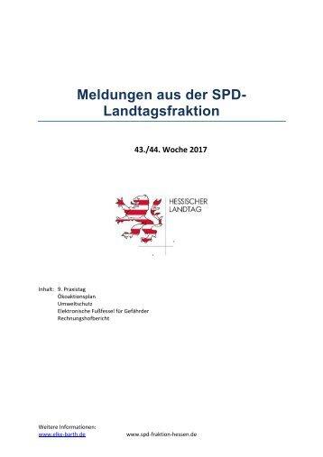 Meldungen aus der SPD-Landtagsfraktion 43_44