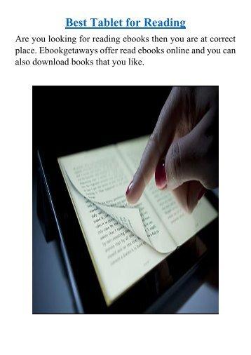 Best Tablet for Reading