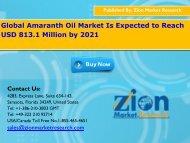 Global Amaranth Oil Market, 2015– 2021