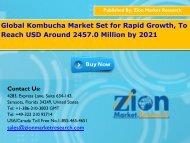 Global Kombucha Market, 2016 – 2022