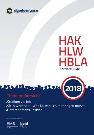 HAK/HBLA/HLW KarriereGuide 2018