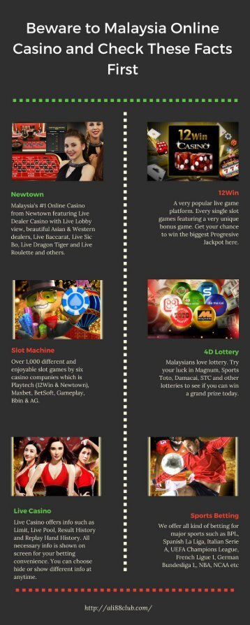 Beware to Malaysia Online Casino and Check These Facts First