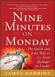 FREE [DOWNLOAD] Nine Minutes on Monday: The Quick and Easy Way to Go From Manager to Leader James Robbins Trial Ebook