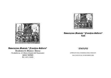 StatutoAssociazioneGaffurio