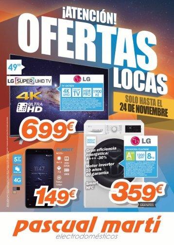 Folleto Pascual Martí Electrodomésticos  hasta 24 de Noviembre 2017