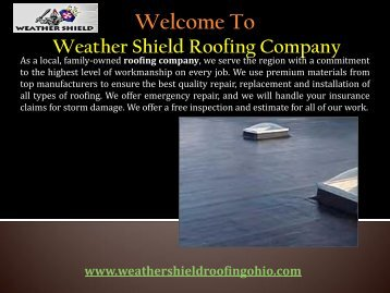 Flat Roofs in Dayton, OH