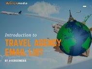 TRAVEL AGENCY EMAIL LIST