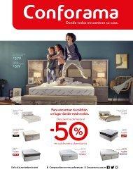 Catálogo Conforama especial colchones y dormitorios