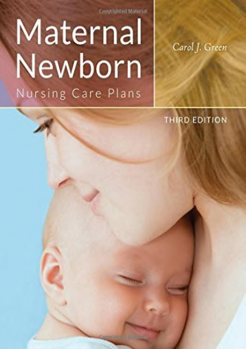 Read Online (PDF) Maternal Newborn Nursing Care Plans - Read Unlimited eBooks and Audiobooks