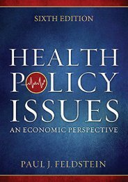 Read Online (PDF) Health Policy Issues: An Economic Perspective, Sixth Edition - Read Unlimited eBooks and Audiobooks