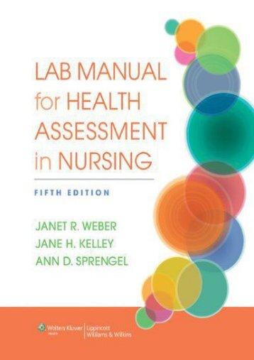 PDF Lab Manual for Health Assessment in Nursing - All Ebook Downloads