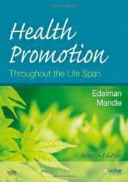 PDF Health Promotion Throughout the Life Span, 7e (Health Promotion Throughout the Lifespan (Edelman)) - Read Unlimited eBooks and Audiobooks