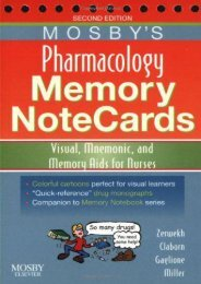 PDF Mosby s Pharmacology Memory NoteCards: Visual, Mnemonic, and Memory Aids for Nurses, 2e - Read Unlimited eBooks and Audiobooks