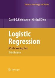 Read Online (PDF) Logistic Regression: A Self-Learning Text (Statistics for Biology and Health) - Read Unlimited eBooks and Audiobooks