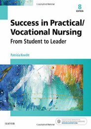 Download [PDF] Success in Practical/Vocational Nursing: From Student to Leader, 8e (Success in Practical Nursing) - Read Unlimited eBooks and Audiobooks
