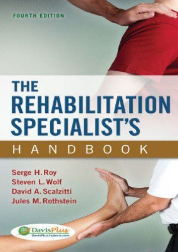 Online [PDF] The Rehabilitation Specialist s Handbook - All Ebook Downloads