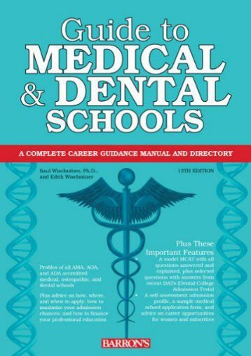 Online [PDF] Guide to Medical and Dental Schools (Barron s Guide to Medical   Dental Schools) - Read Unlimited eBooks and Audiobooks