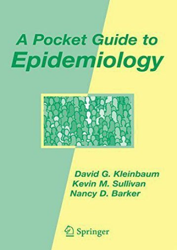 Read Online (PDF) A Pocket Guide to Epidemiology - Read Unlimited eBooks and Audiobooks