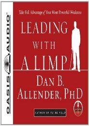 PDF Leading With a Limp: Take Full Advantage of Your Most Powerful Weakness - Read Unlimited eBooks and Audiobooks