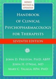 Download [PDF] Handbook of Clinical Psychopharmacology for Therapists - Read Unlimited eBooks and Audiobooks