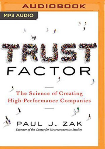 PDF Trust Factor: The Science of Creating High-Performance Companies - All Ebook Downloads