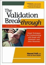 [PDF] The Validation Breakthrough: Simple Techniques for Communicating with People with Alzheimer s and Other Dementias - Read Unlimited eBooks and Audiobooks