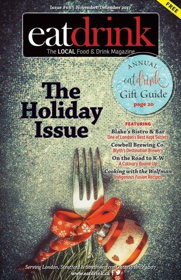 "Eatdrink #68 November/December 2017 ""The Holiday Issue"""