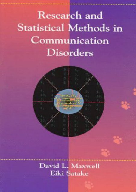 [PDF] Research and Statistical Methods in Communication Disorders - All Ebook Downloads
