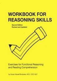 [PDF] Workbook for Reasoning Skills: Exercises for Functional Reasoning and Reading Comprehension, Second Edition, Revised and Updated (William Beaumont Hospital Series in Speech and Language Pathology) - Read Unlimited eBooks and Audiobooks