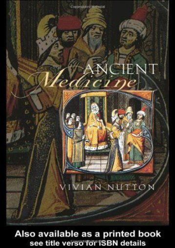 Read Online (PDF) Ancient Medicine (Sciences of Antiquity Series) - All Ebook Downloads
