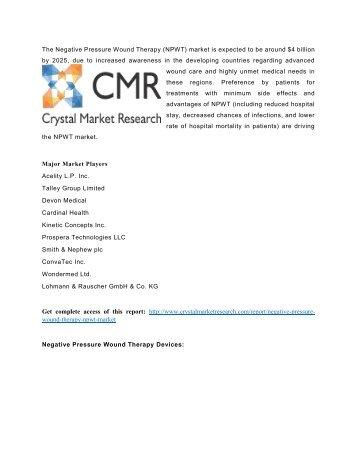 Negative Pressure Wound Therapy (NPWT) market