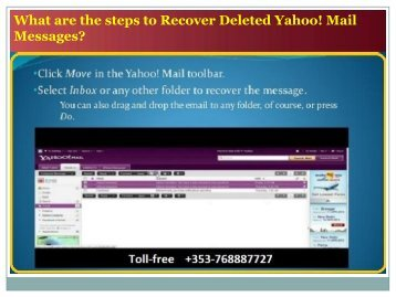 What are the steps to Recover Deleted Yahoo! Mail Messages?