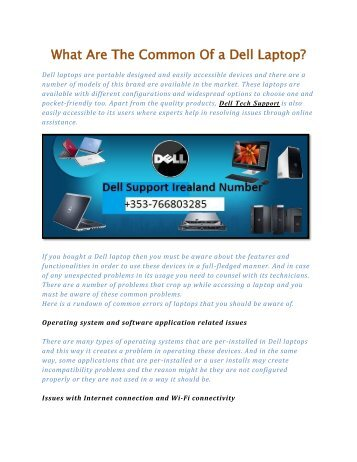 What Are The Common Of a Dell Laptop?